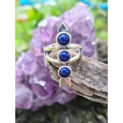 bague Lapis lazuli flêche