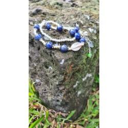 bracelet Lapis lazuli oeil...