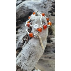 bracelet Cornaline lotus