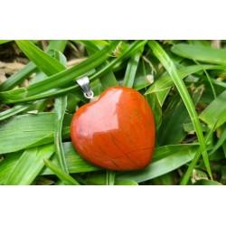 pendentif Jaspe rouge coeur