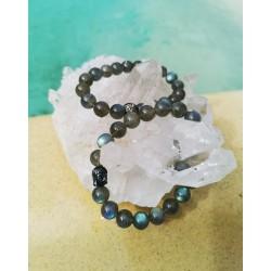 bracelet Labradorite fleur