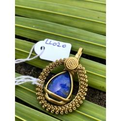 pendentif Lapis Lazuli doré