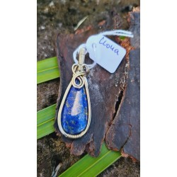 pendentif Lapis Lazuli argenté