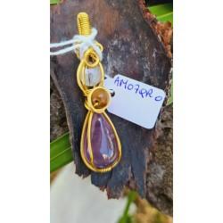 pendentif Améthyste/quartz...